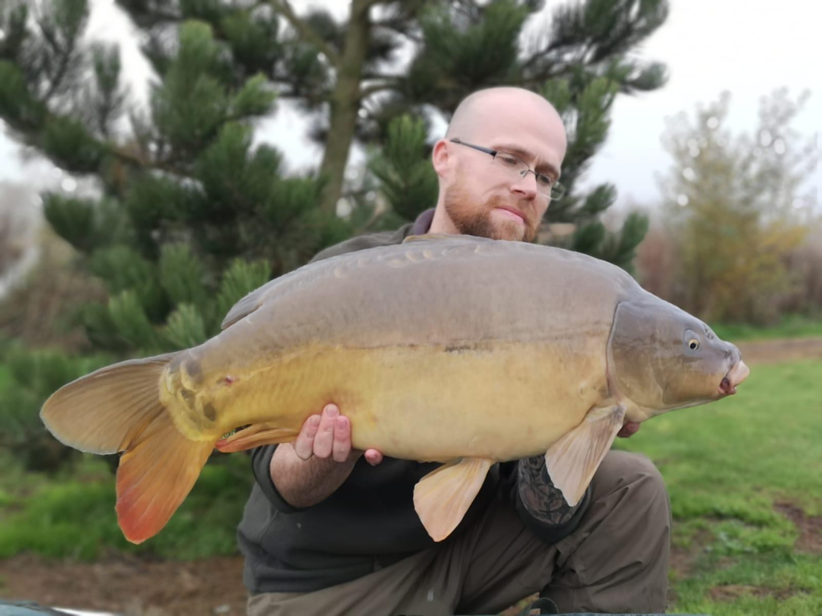 22lb 03oz caught on