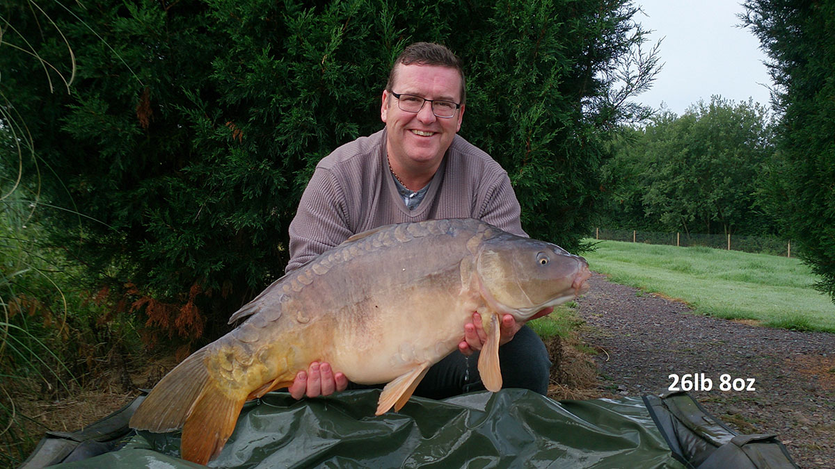 26-08 caught on Worm & Sweetcorn