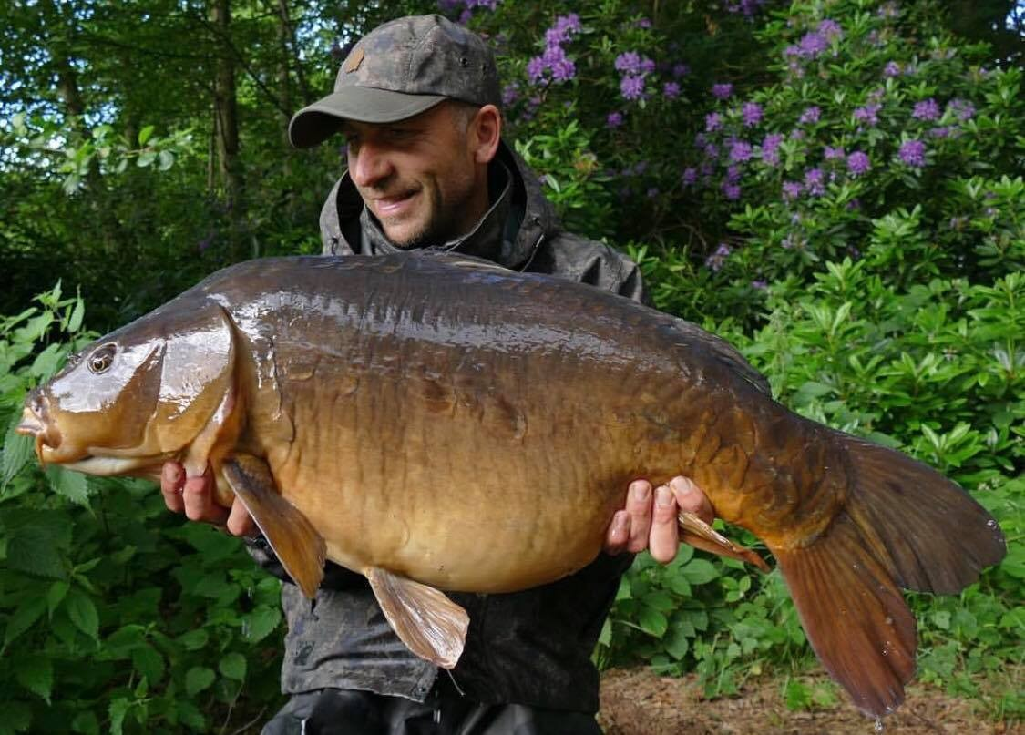 34lb 08oz caught on
