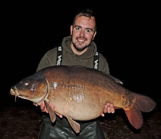 34lb 04oz  caught on