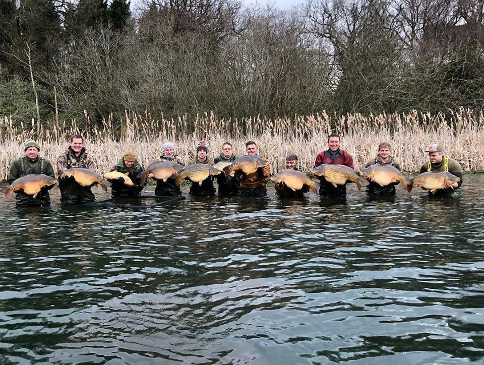 All the lads with 30lbers and a 40lb common  caught on