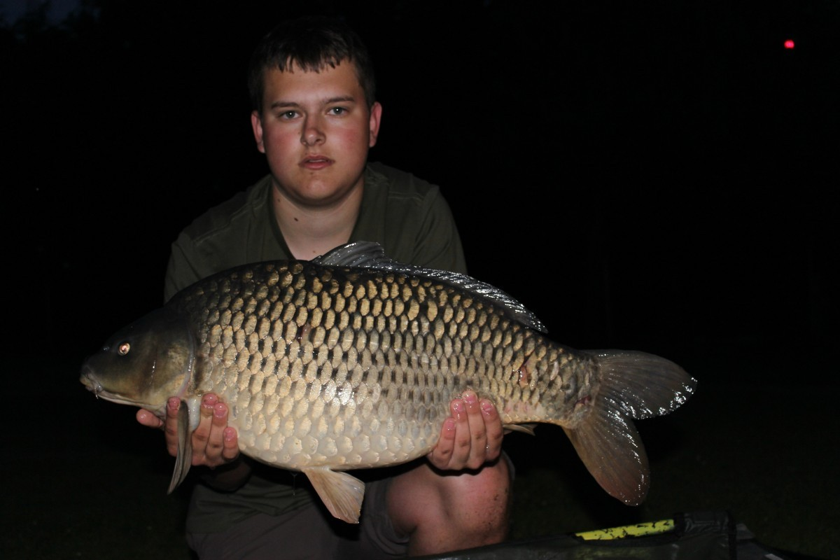 21lb 4oz caught on Boilie