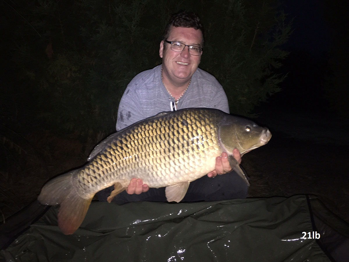 21-00 caught on Worm & Sweetcorn