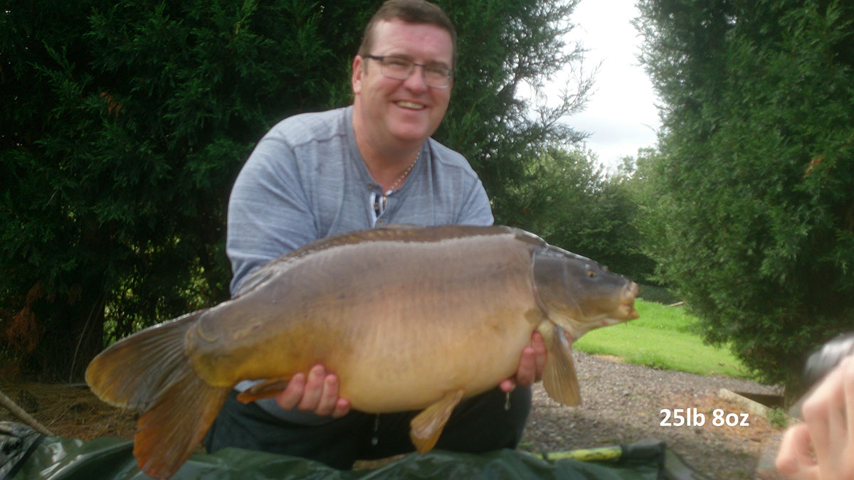 25-08 caught on Worm & sweetcorn
