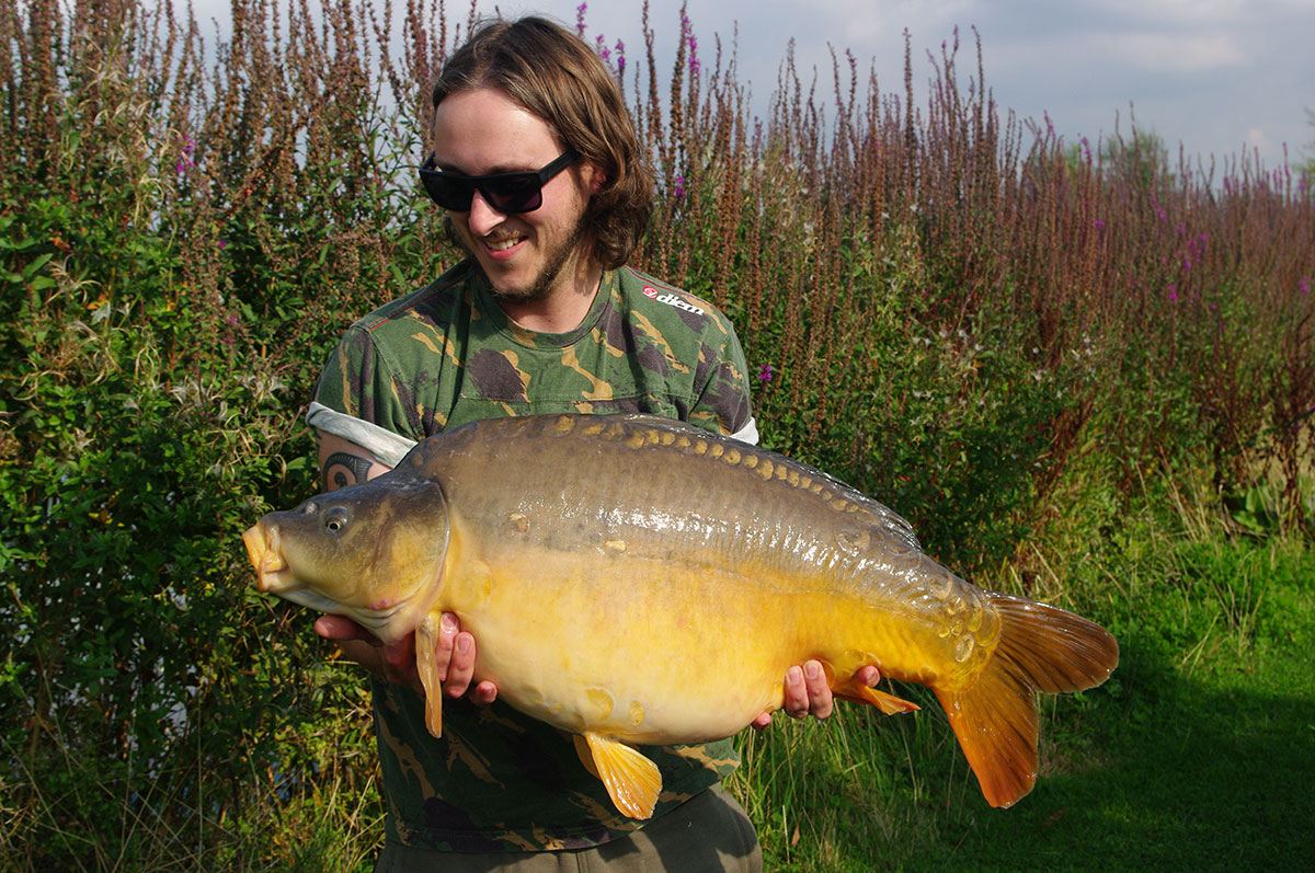 32lb 12oz caught on Yellow Essential IB Wafter
