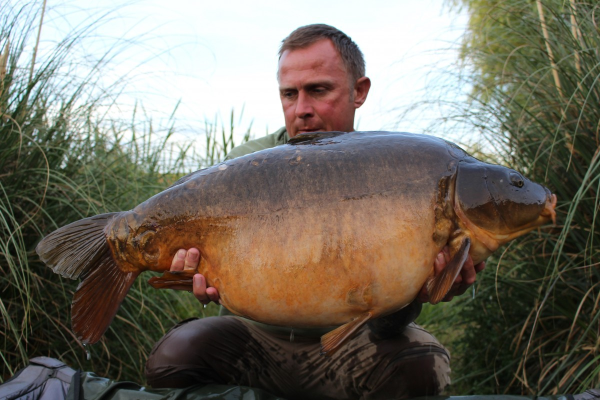 34lb 4oz caught on Boilie