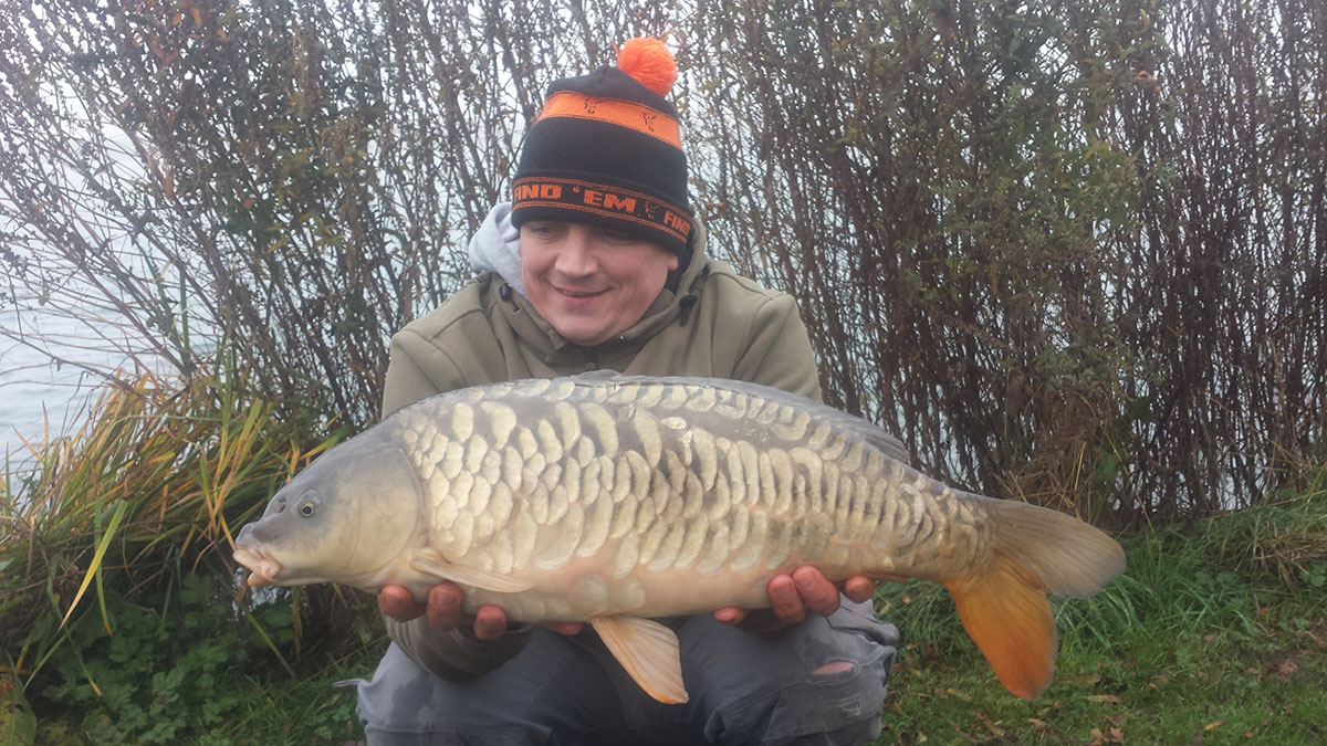 14-08 caught on Nut mino, over loads of maize, parti blend and hemp