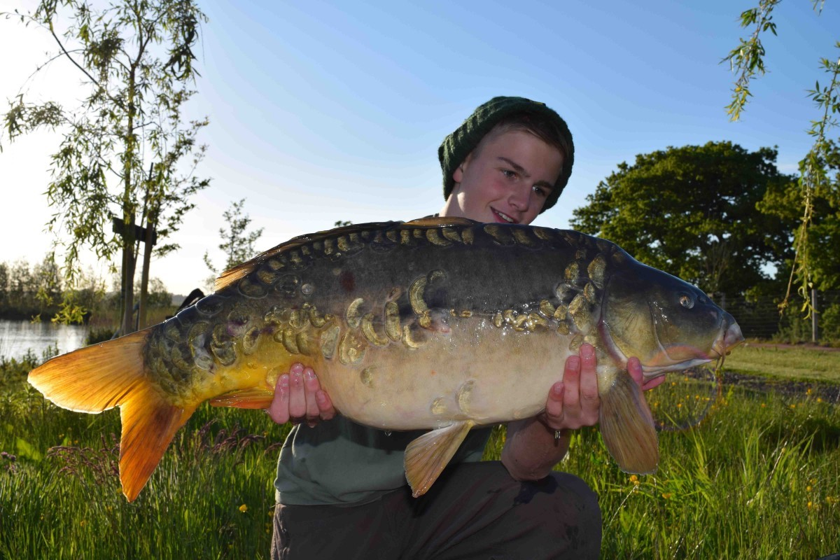 21lb 2oz caught on Boilie