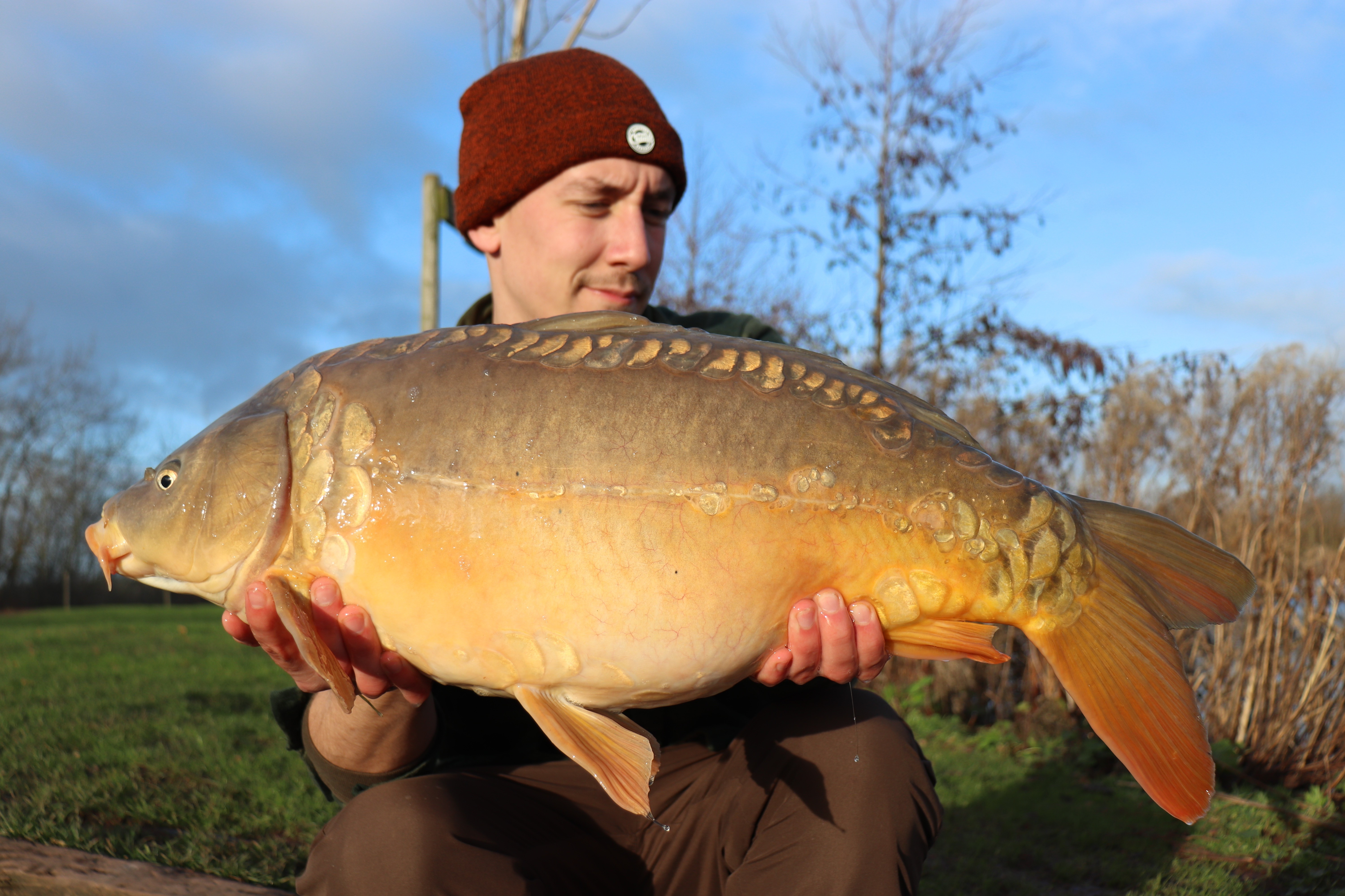24lb 08oz  caught on 8kg of Boilies, corn and maggots
