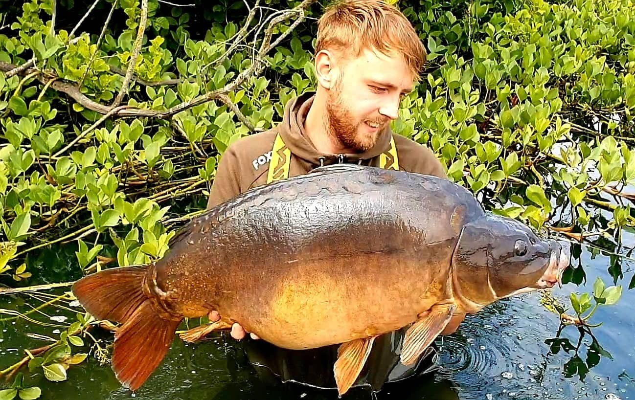 32lb 02oz  caught on