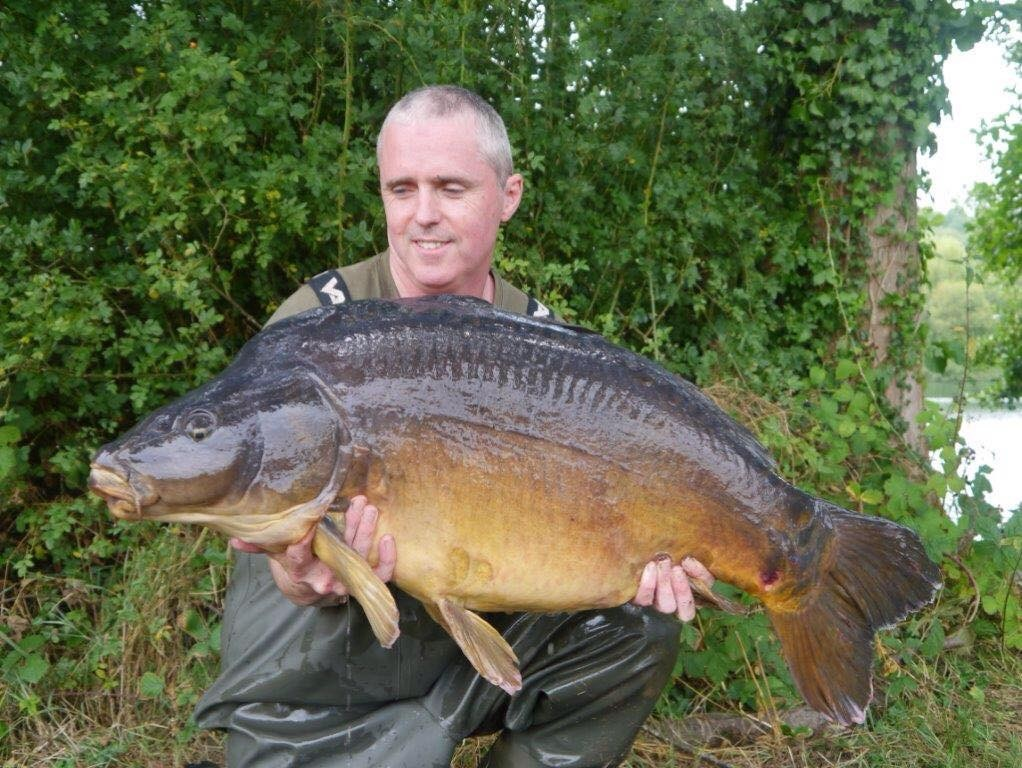 41lb 08oz  caught on