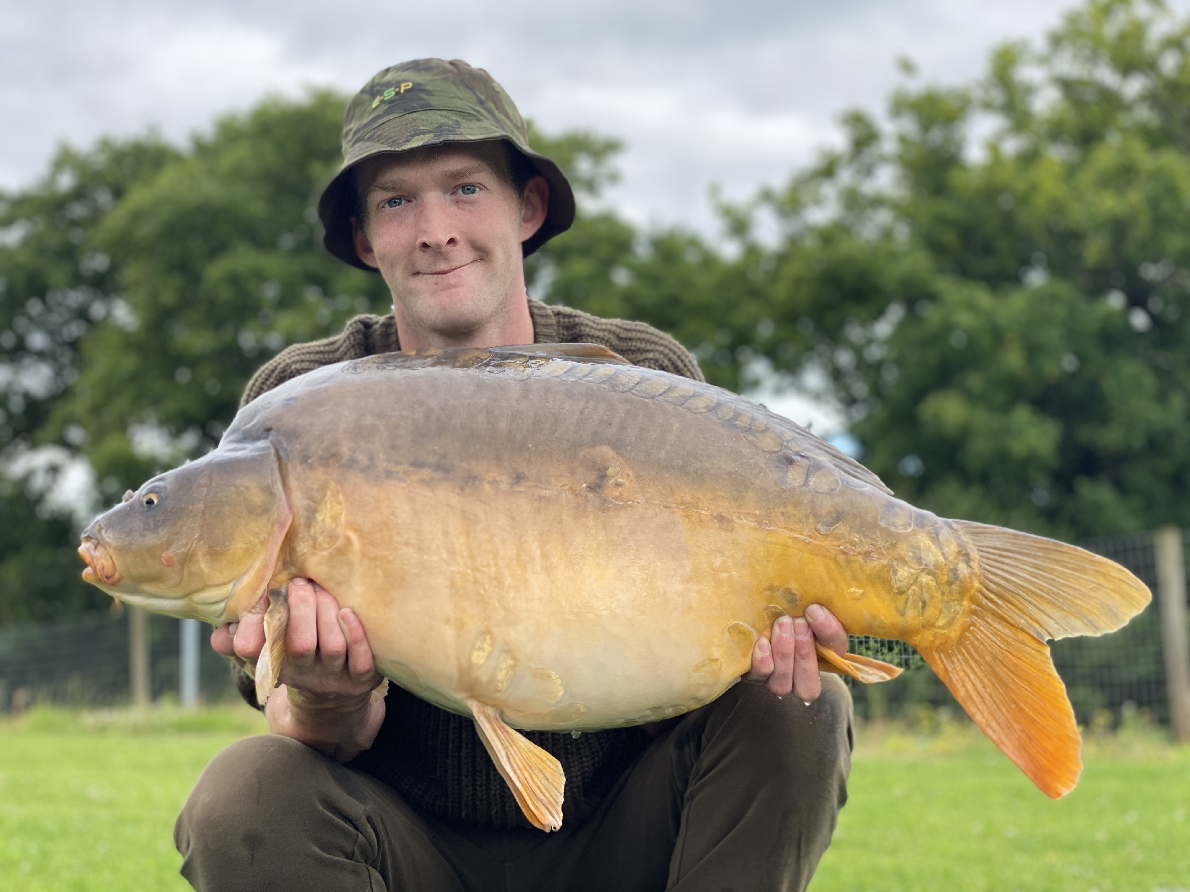 35lb 08oz  caught on