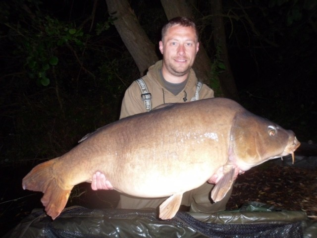 40lb 08oz  caught on