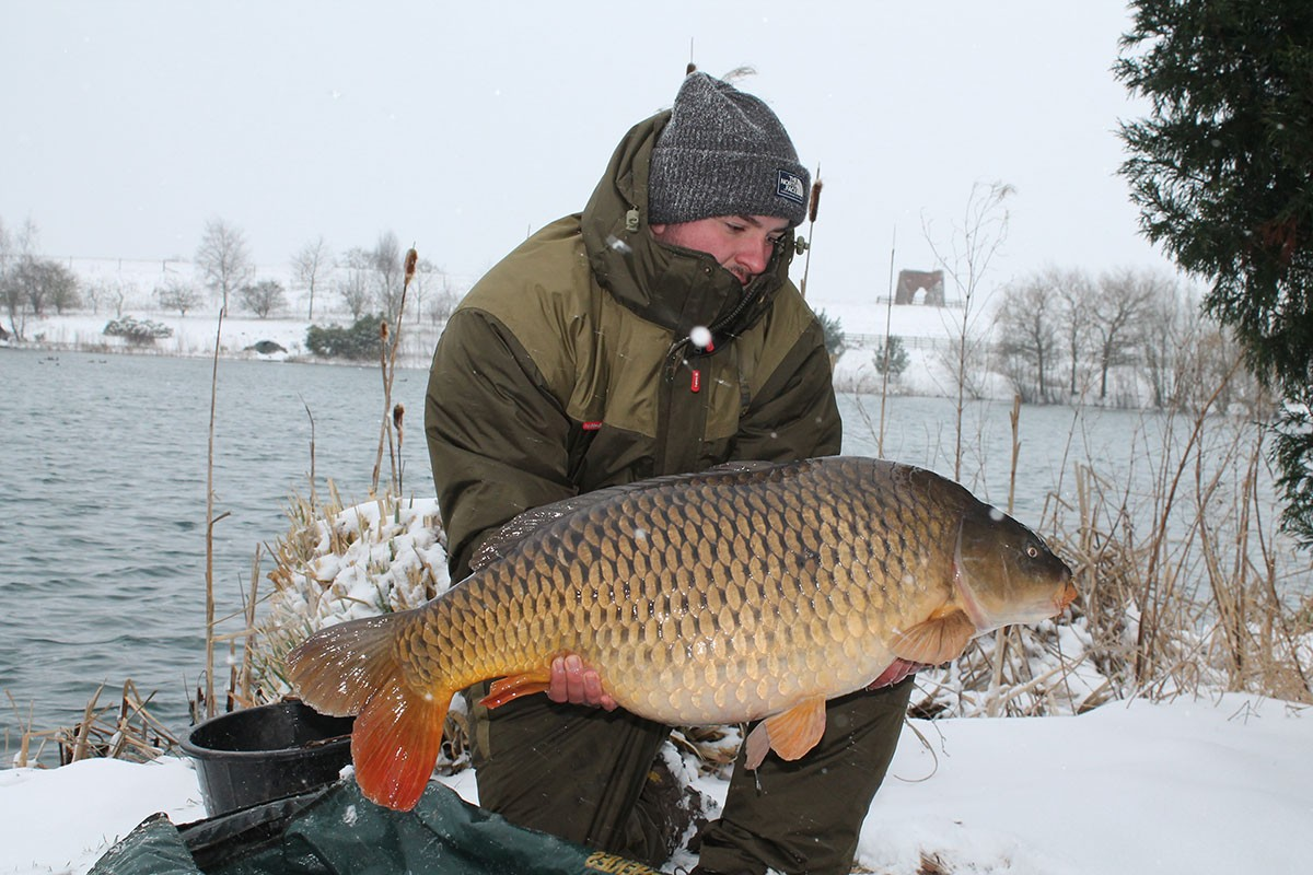 Lewis Cole holding a 36-00 from RH Fisheries