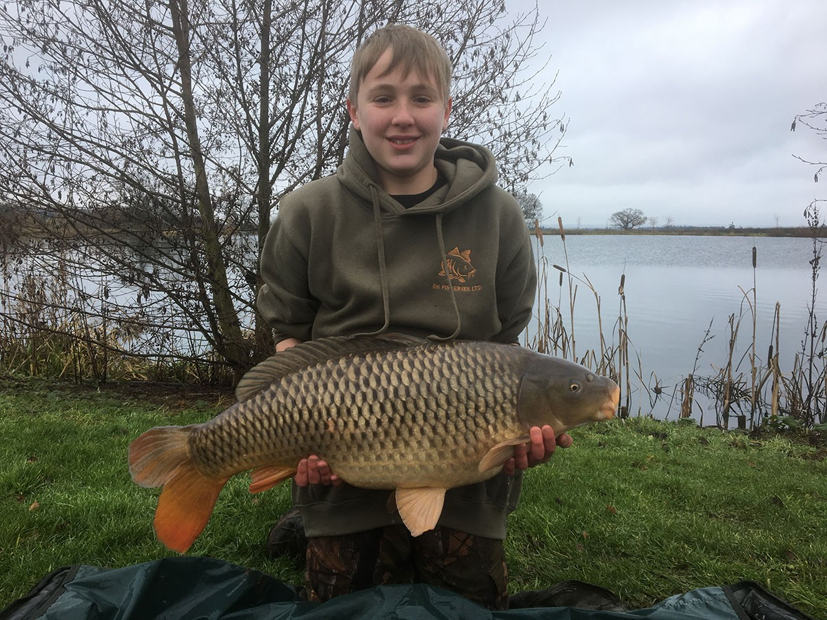 Oliver Steadman-Walley holding a 21-00 from RH Fisheries