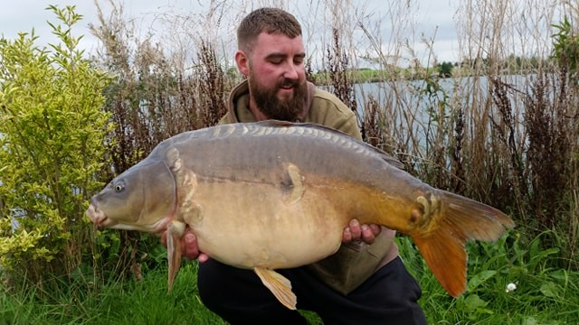 34lb 08oz 'Single Scale' caught on The Hive